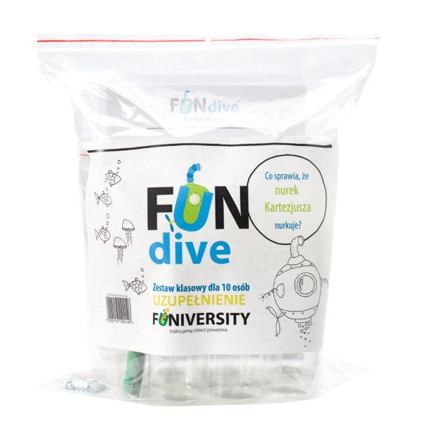 fun dive - eksperyment dla dzieci szkolnych - uzupełnienie
